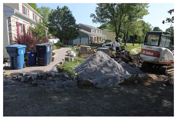 Longford Before, During & After Hardscape Construction